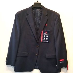Chaps NEW Classic Navy Sports Coat Blazer 42S